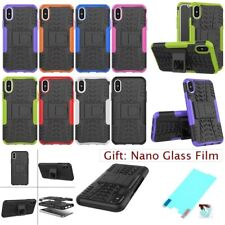 For iPhone X 8 8+ Hybrid ARMOR HEAVY DUTY SHOCKPROOF STAND Rugged Tire Back Case