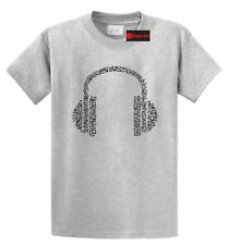 Musical Notes Headphones Graphic Tee Cute Music Lover Gift T Shirt