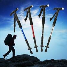 Extendable Outdoor Hiking Walking Canes Walking Sticks with Compass + Led Light