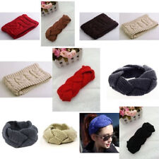Knitted Cable Headband Ear Warmer For Women Girl