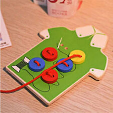 Lacing Board  Toddler  Wooden Toys Buttons Early Education Teaching Puzzles