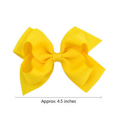 1Pair Big Grosgrain Ribbon Boutique Alligator Clips Hair Clip Baby Girls Bows