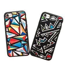 1Pcs For iPhone Fashion Graphic Hot Case Abstract Geometric Phone Triangle Sets