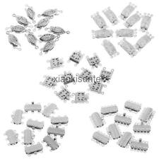 10Pcs Flower Pattern Jewelry Clasps Connector for DIY Bracelet Necklace Crafts