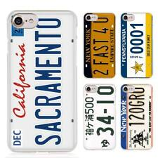 funny License plate number Clear Cell Phone Case Cover for Apple iPhone