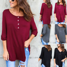 Womens Casual Long Sleeve Crew Neck Pullover Sweatshirt Loose Shirt Blouses Tops