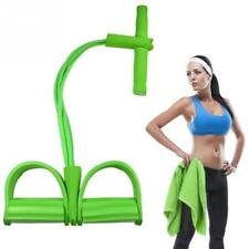 Resistance Bands Latex Pedal Strong Fitness Exerciser 4 Tube Sit Up Pull Ropes