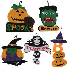 Happy Halloween Pumpkin/Skull/Ghost/Witch Wall Hanging Decor Haunted House ACCS