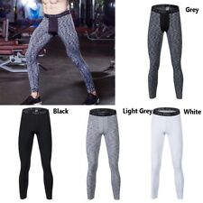 Men Compression Fitness Leggings Quick Dry Gym Base Layer Training Sports Pants