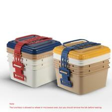 3-Layer Portable Lunch Box Lunchbox Picnic Box Food Container Picnic New D4D5