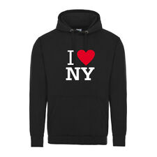 Hoody I LOVE NY New York Printed Black White Red hoodie jersey top xmas