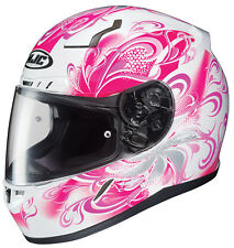 HJC Adult CL-17 Cosmos Pink/White Full Face Motorcycle Helmet Snell DOT