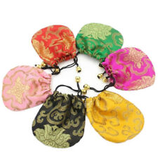 Silk Drawstring Jewelry 1 Pcs Embroidery Bags Ethnic Style Drawstring Pouch