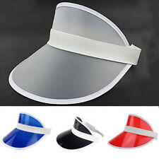 New Adjustable Men Women Visor Sun Plain Hat Sports Cap Colors Golf Tennis Beach
