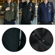 Autumn Men's Casual jacket 1 Pcs Youth collar shirt Korean embroidered jacket