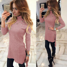 Sexy High-Necked Slim Long T-shirt Womens New Bodycon Fashion Long Sleeve