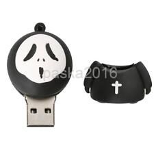 Silicone Funny Halloween Ghost Model USB 2.0 Memory Stick Flash Pen Drive