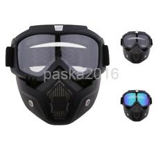 Motorcycle Detachable Full Face Mask Protective Windproof Goggles Eyewear