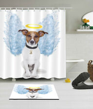"Lovely Dog Wing 72/79"" Polyester Waterproof Fabric Shower Curtain Bathroom Mat"