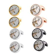 Mens Retro Watch Movement Design Steampunk Cufflinks Cuff Links Wedding Gift