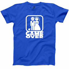 Game Over Funny T Shirt New Marriage Funny Married Man Humor Wedding Graphic Tee