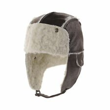 WITHMOONS Ear Flap Cap Faux Leather Trapper Hat Aviator Trooper AC7141