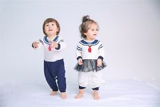 Matching Twin Baby Brother Sister Boys Girl Navy Tutu Romper Holiday Outfits