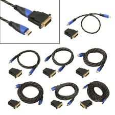 HDMI V1.4 Cable + DVI Adapter HD 3D For PS3 Xbox HDTV 0.5-15M Meters 1080P LOT