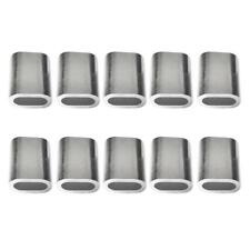 10pcs Aluminum Cable Crimps Sleeves Cable Ferrule Snare Wire Rope Clip Fittings