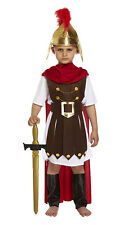 KIDS BOYS ROMAN COSTUME FANCY DRESS CAESAR SOLDIER BOOK WEEK OUTFIT NEW AGE 4-12