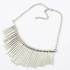 Retro Fashion Tassel Metal Collar Bib Choker Necklace Gold/Silver Chain