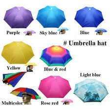 Umbrella Hat Sun Shade Camping Fishing Hiking Outdoor Foldable Headwear New*