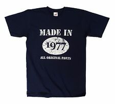 Made in 1977 All Original Parts t shirt, 40th Birthday gift present idea