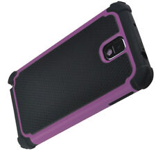 Samsung Galaxy Note 3 Heavy Duty Case Cover - Black and Purple