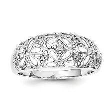Sterling Silver Rhodium Plated Diamond Ring QR5764 Size 6 - 8