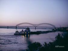 Mississippi River, Memphis, Tennessee, United States o... Stretched Canvas Print