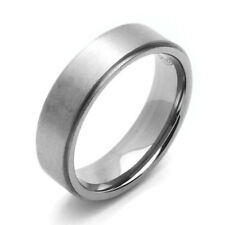 Men 6MM Comfort Fit Titanium Wedding Band Satin Finished Ring
