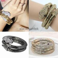 Punk Curved Stretch Snake Upper Arm Armlet Bracelet Cuff Armband Bangle Vintage