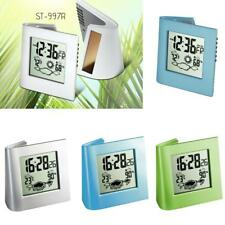 Silent Digital LCD Display Alarm Clock with Snooze & Calendar & Thermometer