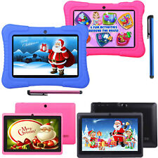 """7"""" 16GB Android 4.4 Quad Core Camera WIFI Tablet For Kids Bundle Case Gift Xmas"""