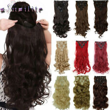 Long New Straight/Curly/Wavy Hair Extension Clip in Hair Extensions 18Clips lh88