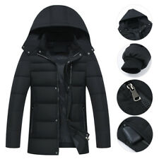 Men Plus Size Thicken Puffer Jacket Warm Coat with Removable Hood XL 2XL 3XL 4XL