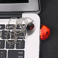 Jewelry Metal+Crystal USB 2.0 Flash Drive U Disk For PC Laptop Red Necklace