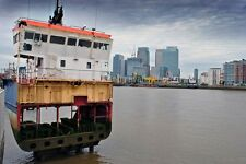 Canary Wharf river Thames London Docklands photograph picture poster art print