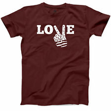 Love Peace Flag T Shirt Make World Peace Not War Funny Loving People Gift Tee