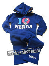 Smurfs Nerds Purple Winter Hoodie Tracksuit Girls Set