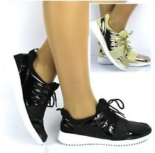 WOMENS LADIES RUNNING TRAINERS FITNESS LIGHT WEIGHT GYM SPORT LACE UP SHOES