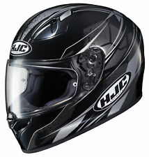 HJC Adult Black/Grey FG-17 Toba Motorcycle Full Face Helmet Snell DOT