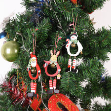 New Year Decor Supplies Santa Claus Wooden Christmas Tree Hanging Ornament*-*