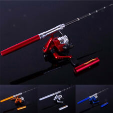 Portable Fishing Rod Pen Mini with Spinning Fishing Reel Combos Travel Set